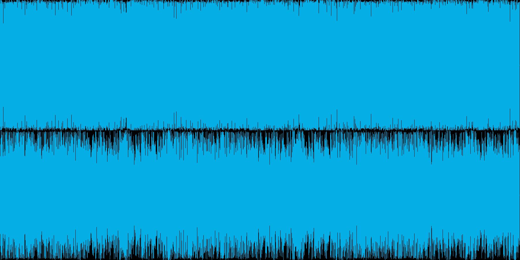 わくわくするような雰囲気のBGMの再生済みの波形