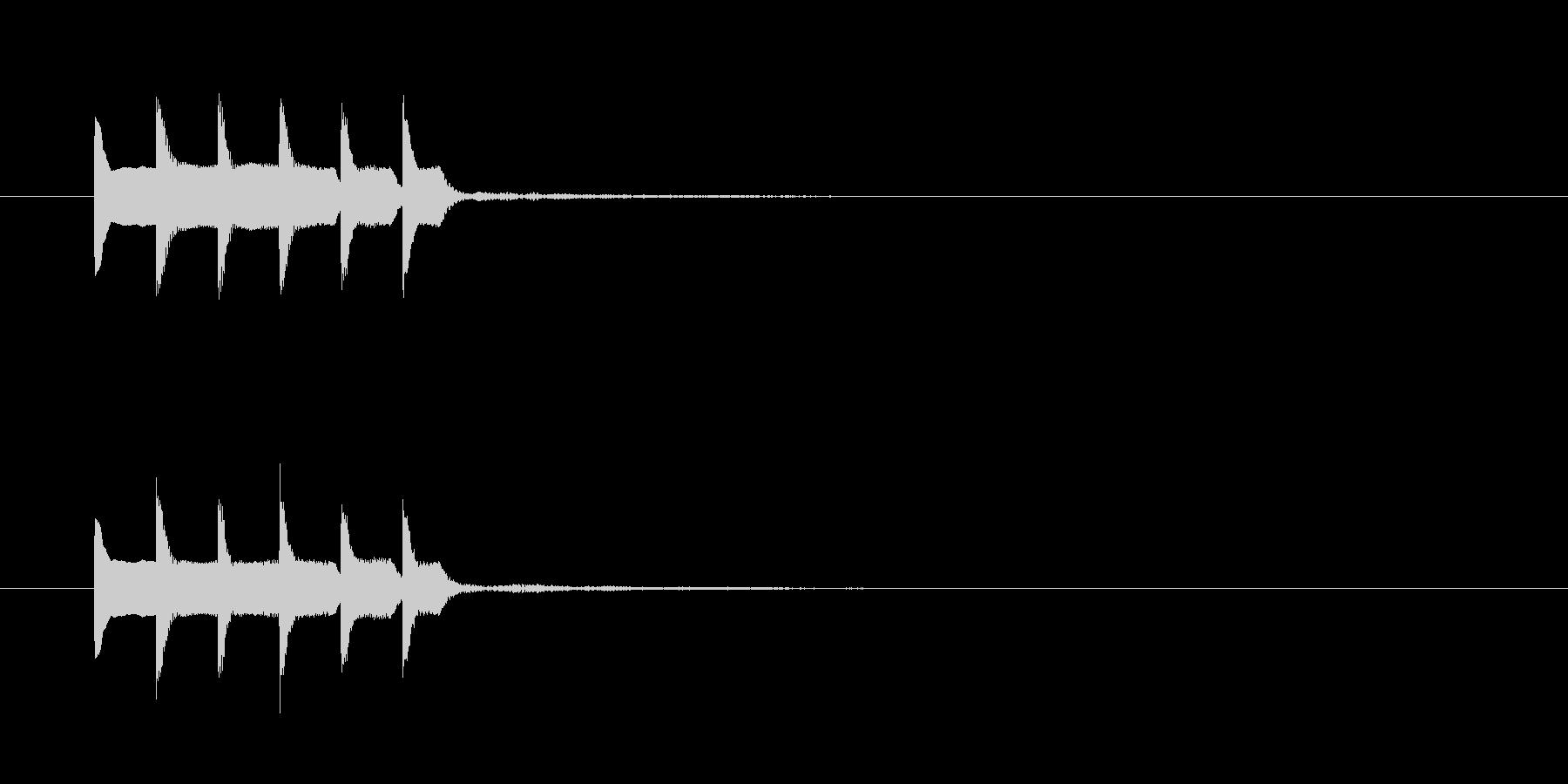 ピコピロピロの未再生の波形