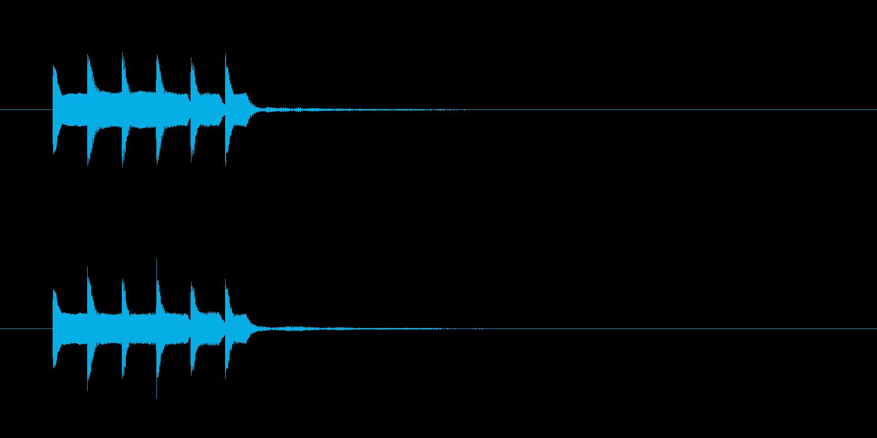 ピコピロピロの再生済みの波形