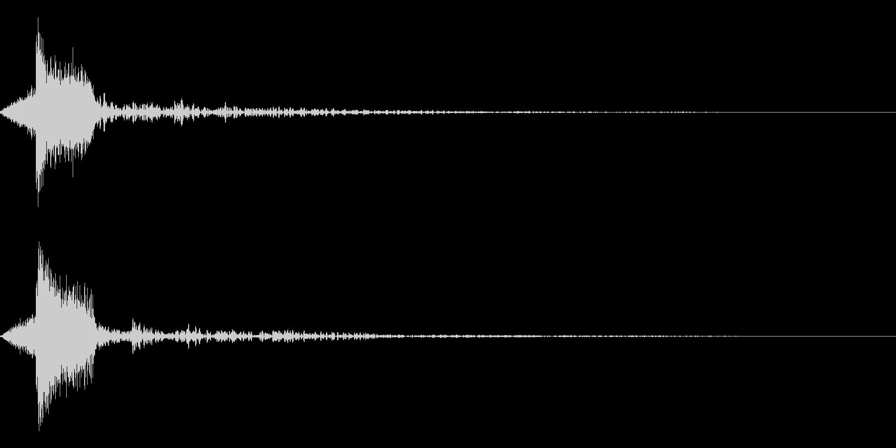 ホラー系アタック音114の未再生の波形