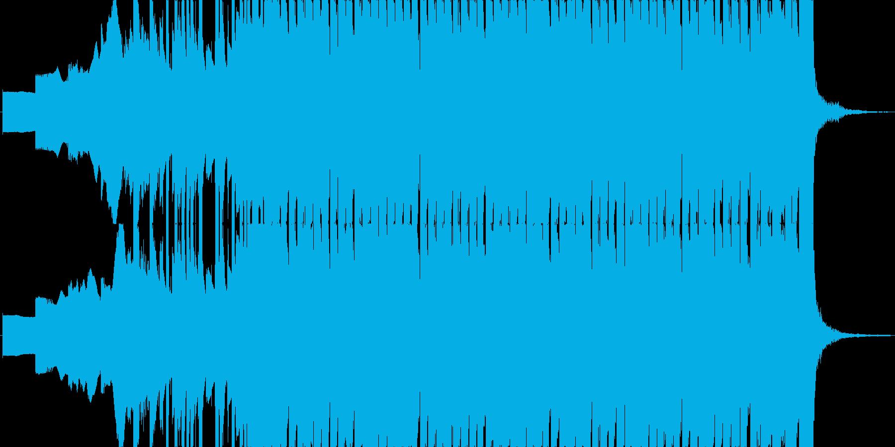 ファミコン風のオープニング・入場BGMの再生済みの波形