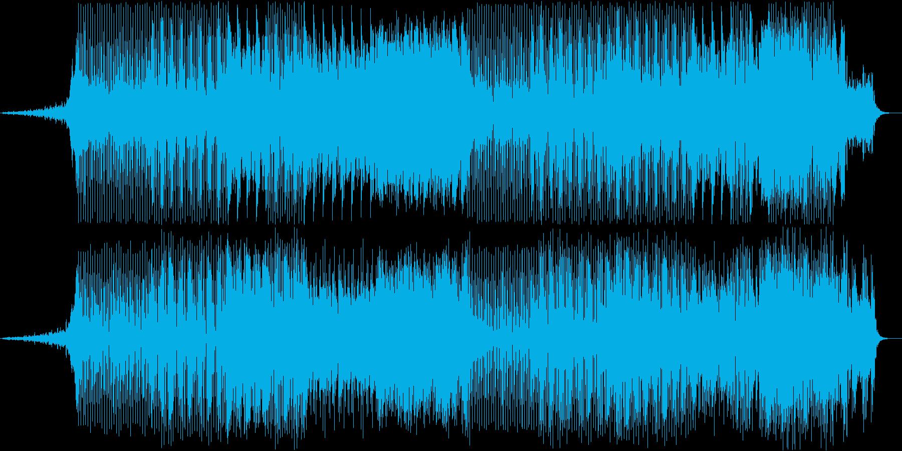 明るくアップテンポなテクノBGMの再生済みの波形