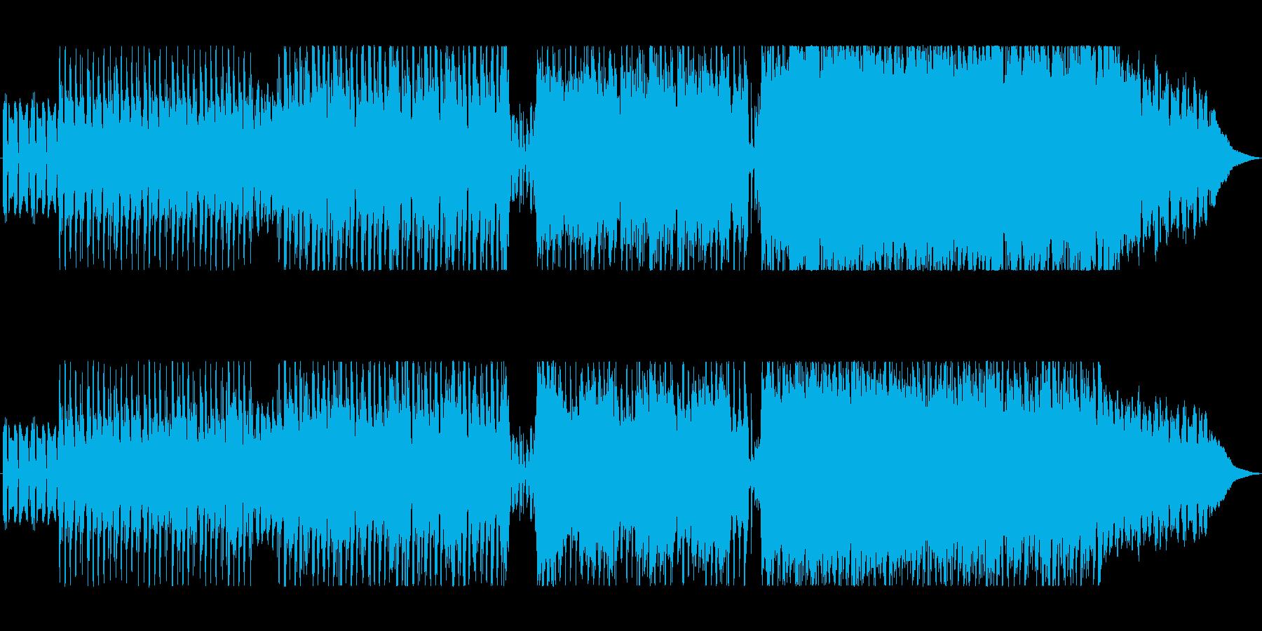 軽快でかっこいいロックギターの曲の再生済みの波形