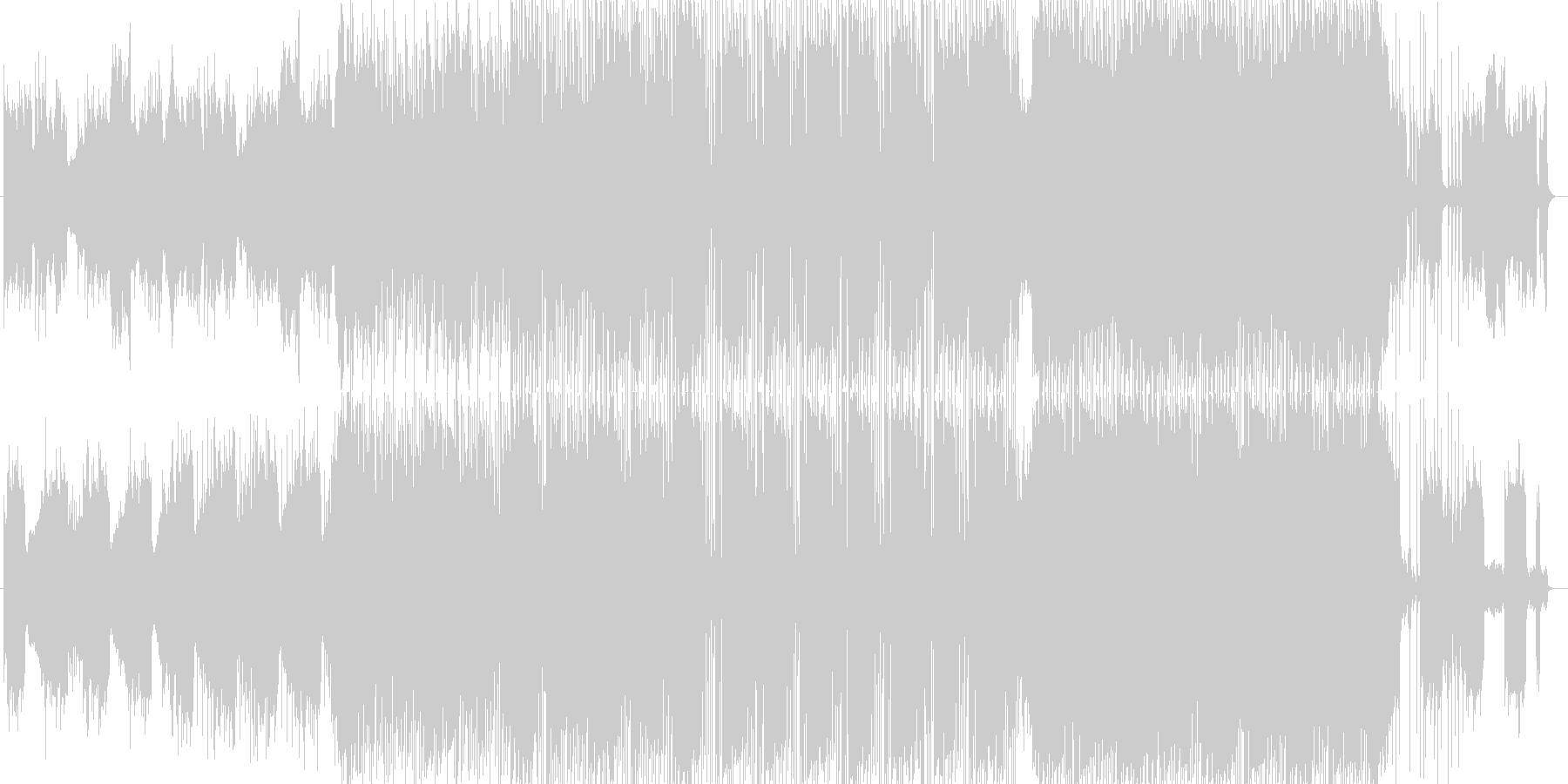 キラキラしていて暖かいフォークトロニカの未再生の波形