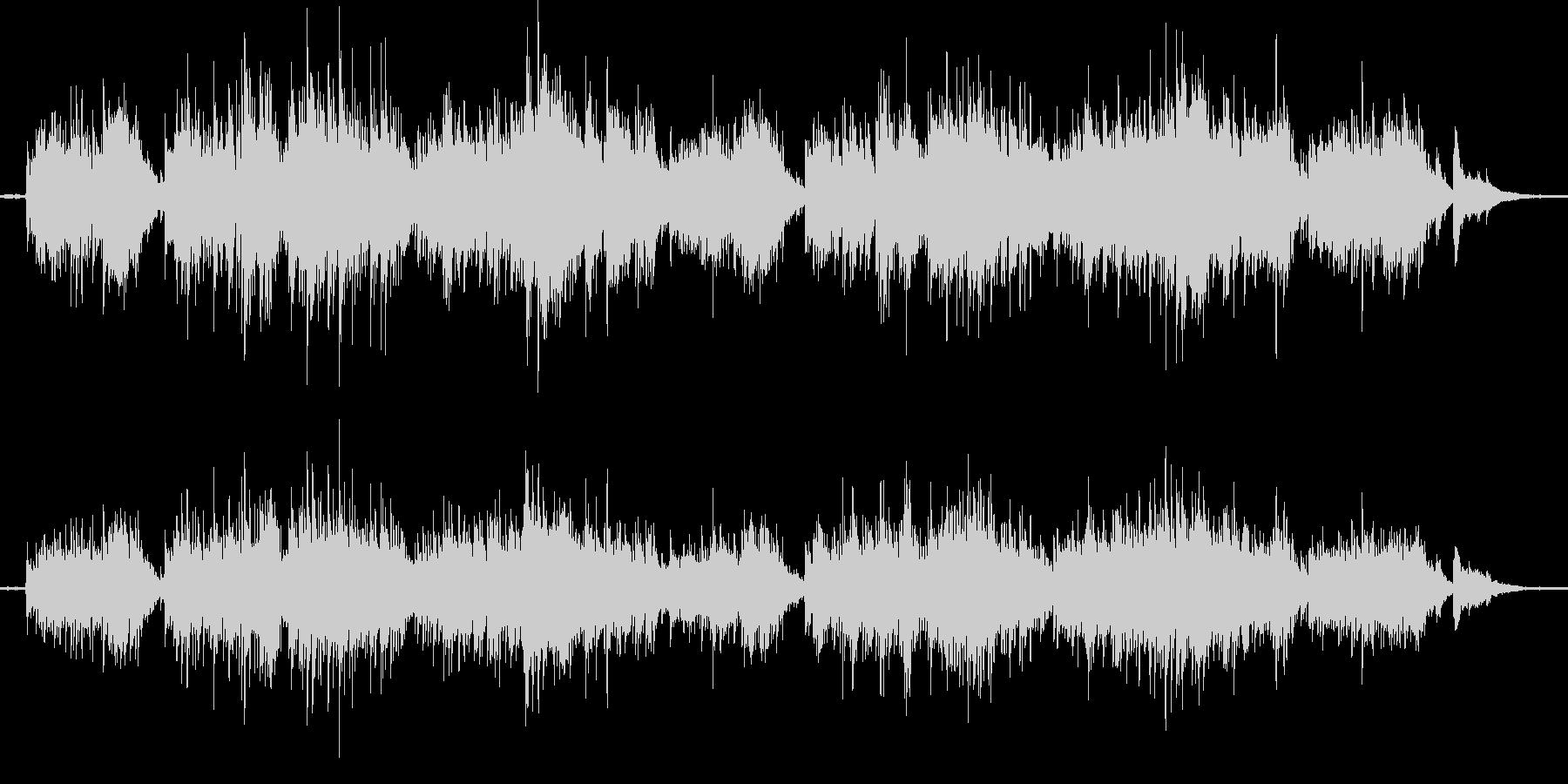 ガットギターとチャランゴによるバラードの未再生の波形