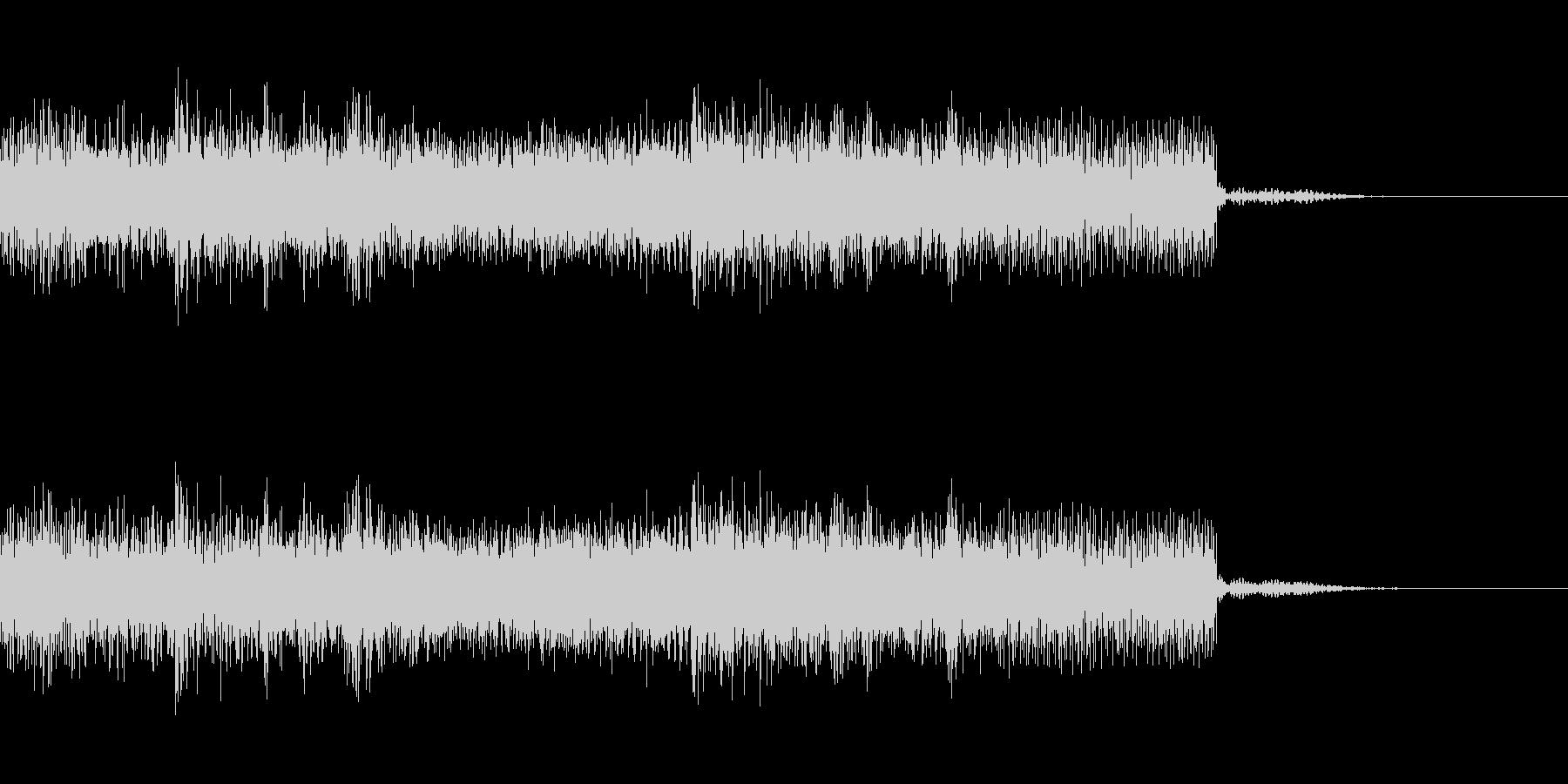 メタル系のジングル 場面転換 CMインの未再生の波形