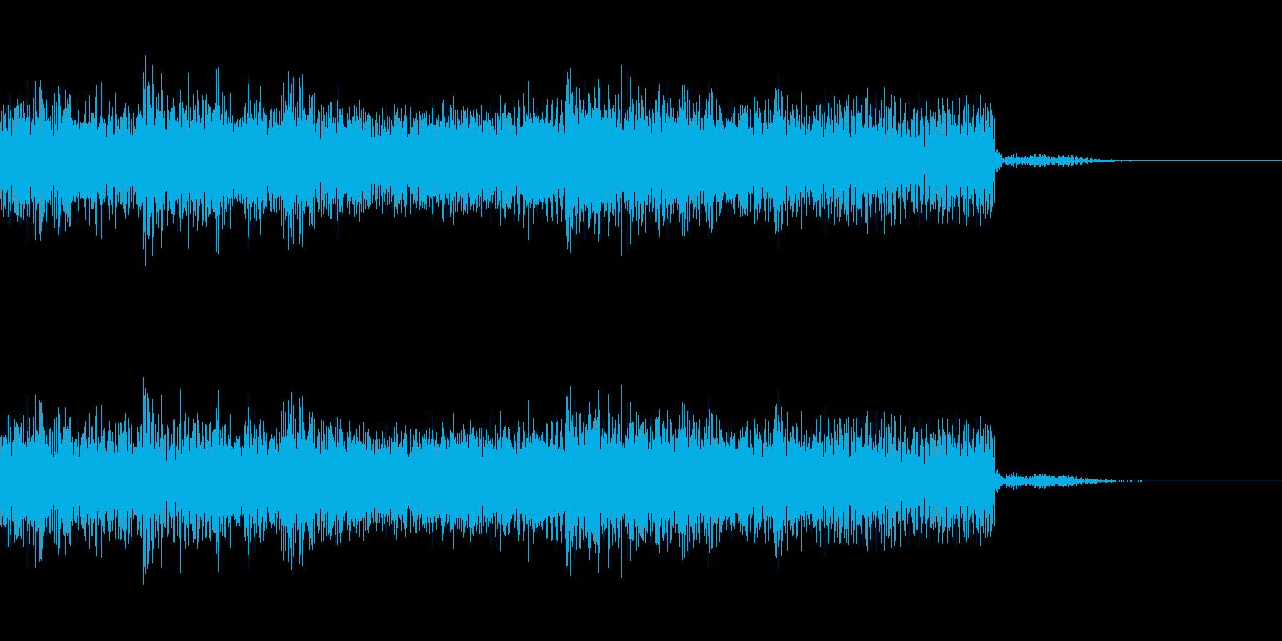 メタル系のジングル 場面転換 CMインの再生済みの波形
