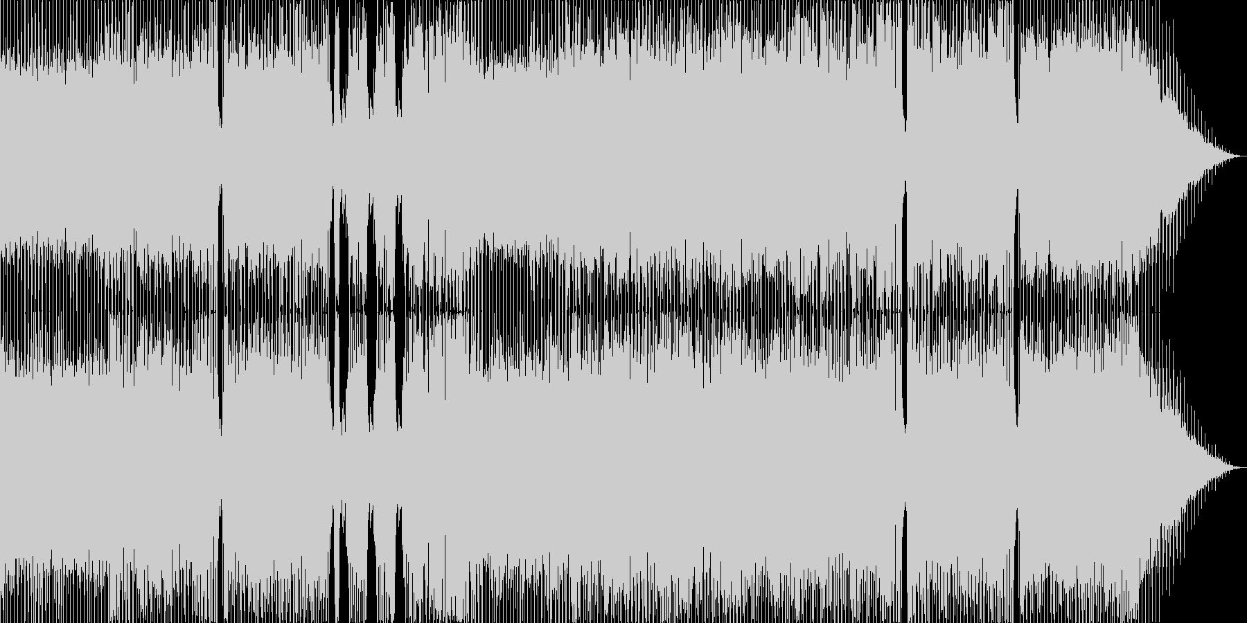 軽い4つうちリズムで心が弾む曲の未再生の波形