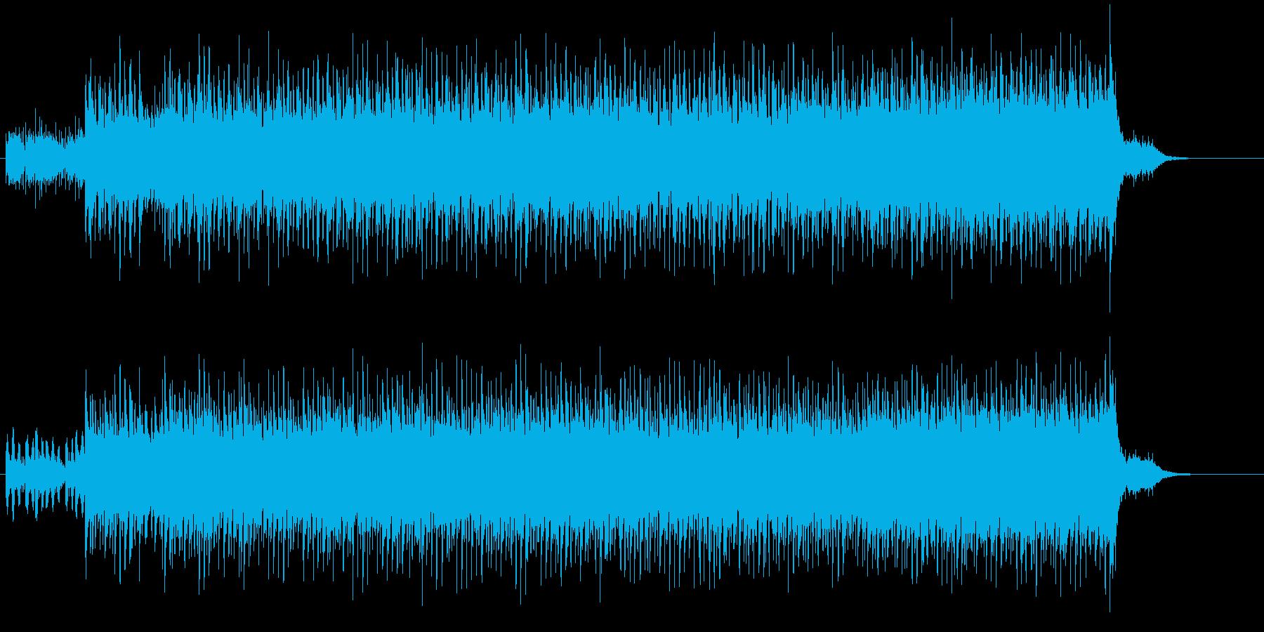 夜の静寂を描いたハウス/フュージョンの再生済みの波形