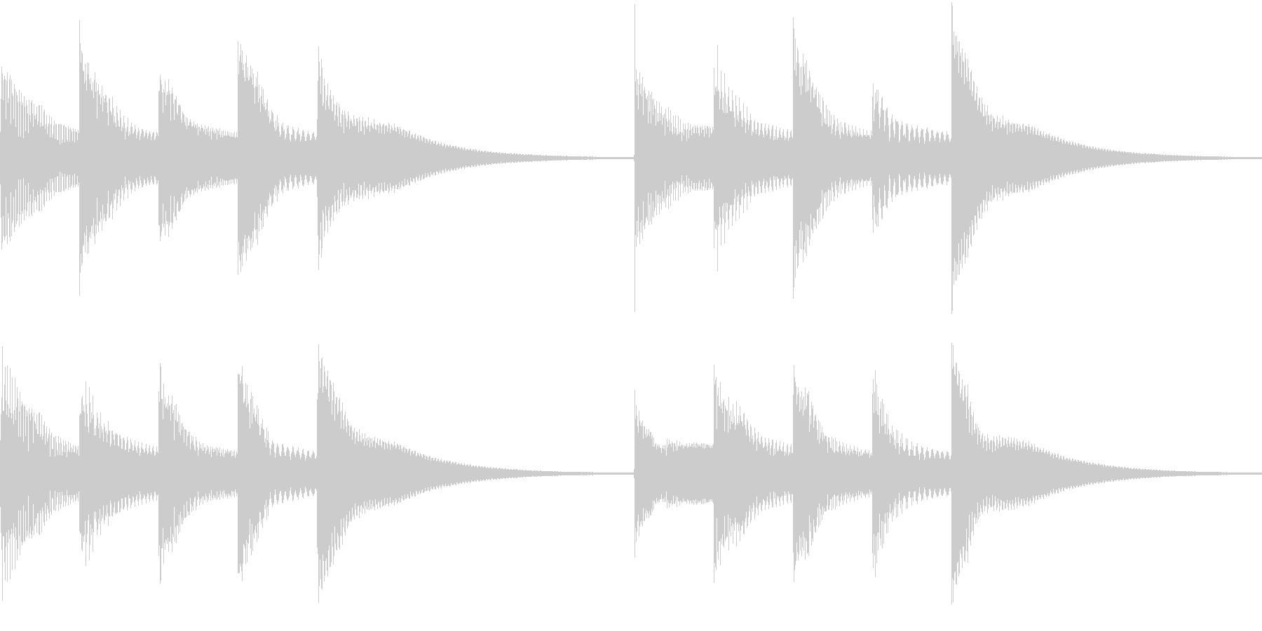 シンプルベル お知らせ ハテナ ? 04の未再生の波形