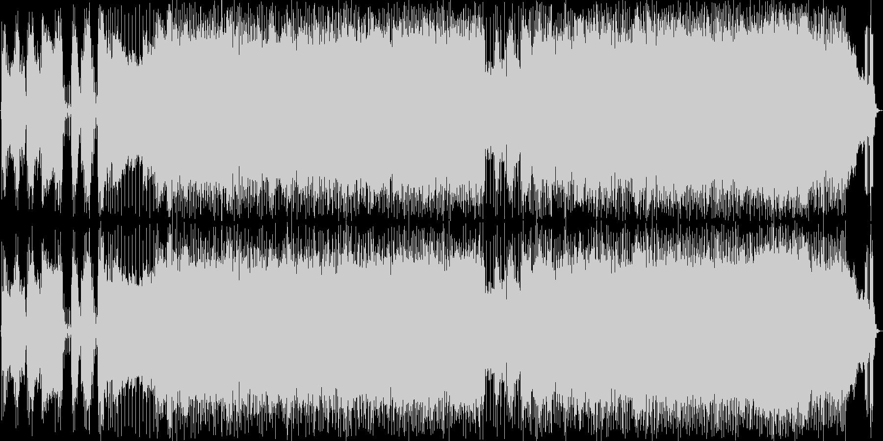 王道的なハードロックBGMの未再生の波形