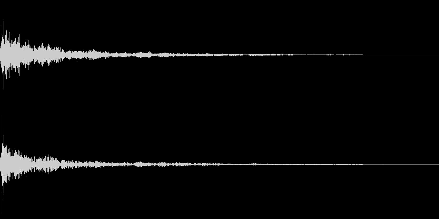 ホラー系アタック音41の未再生の波形