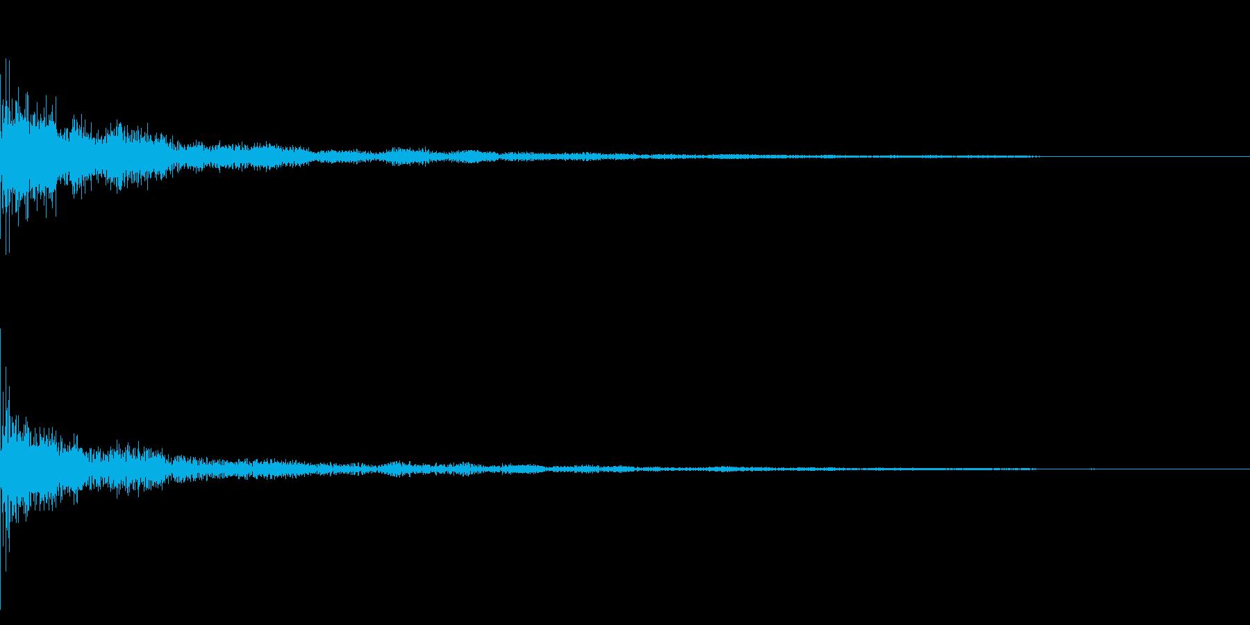 ホラー系アタック音41の再生済みの波形