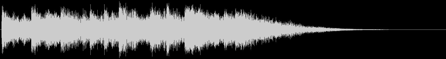 ベル、ピアノ、ベースのアイキャッチの未再生の波形