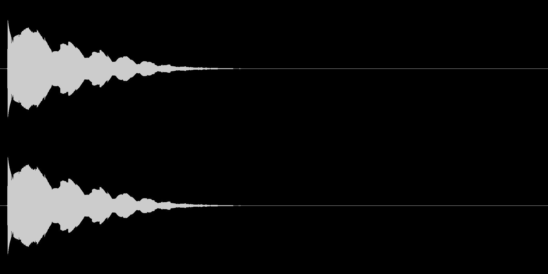 テュリリリリッ↑(場面転換、ころころ)の未再生の波形