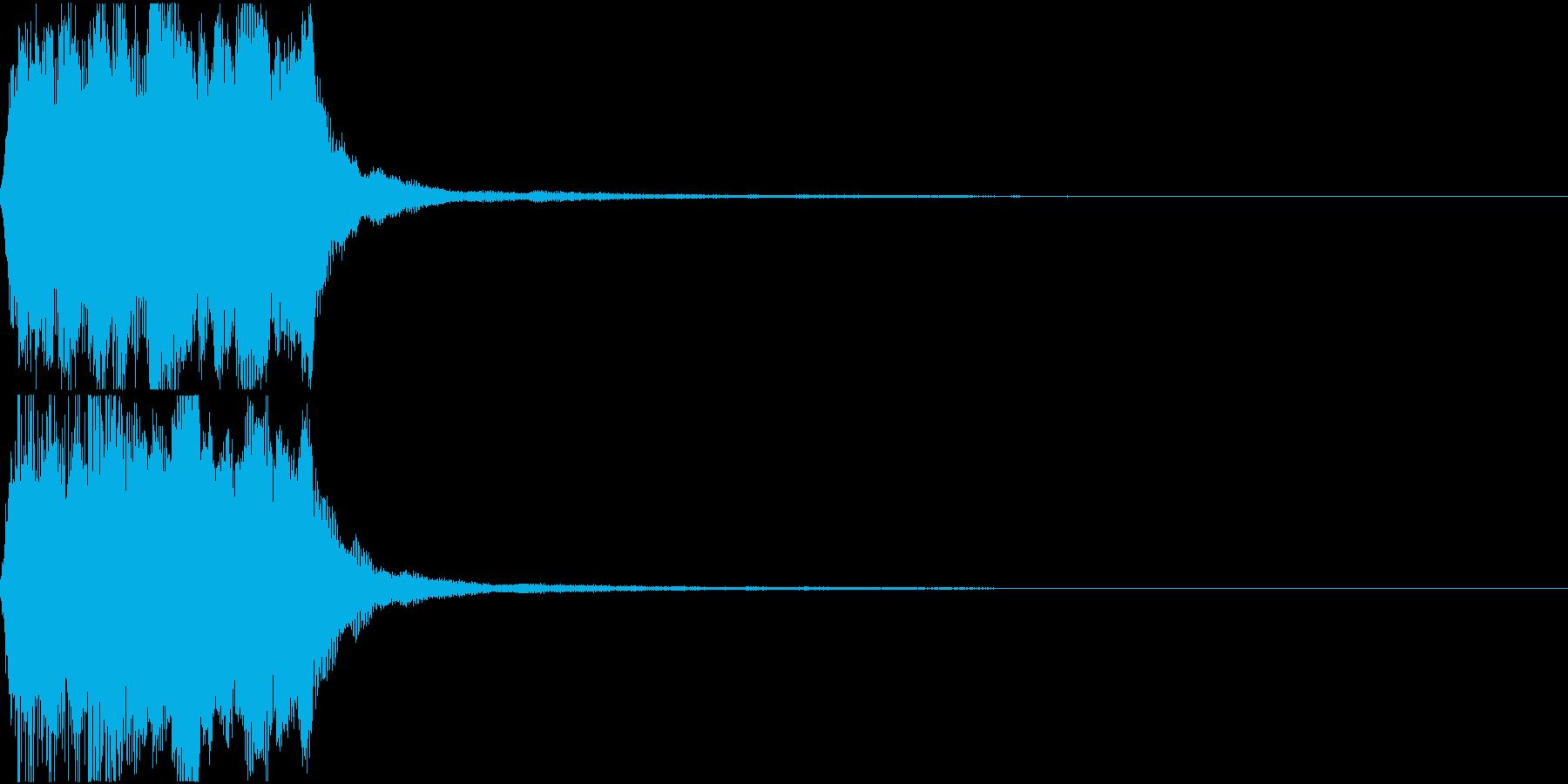 ラッパ ファンファーレ 定番 5の再生済みの波形