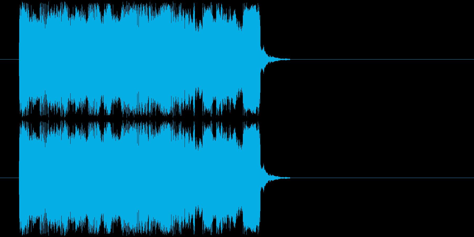 ギターフレーズ015の再生済みの波形