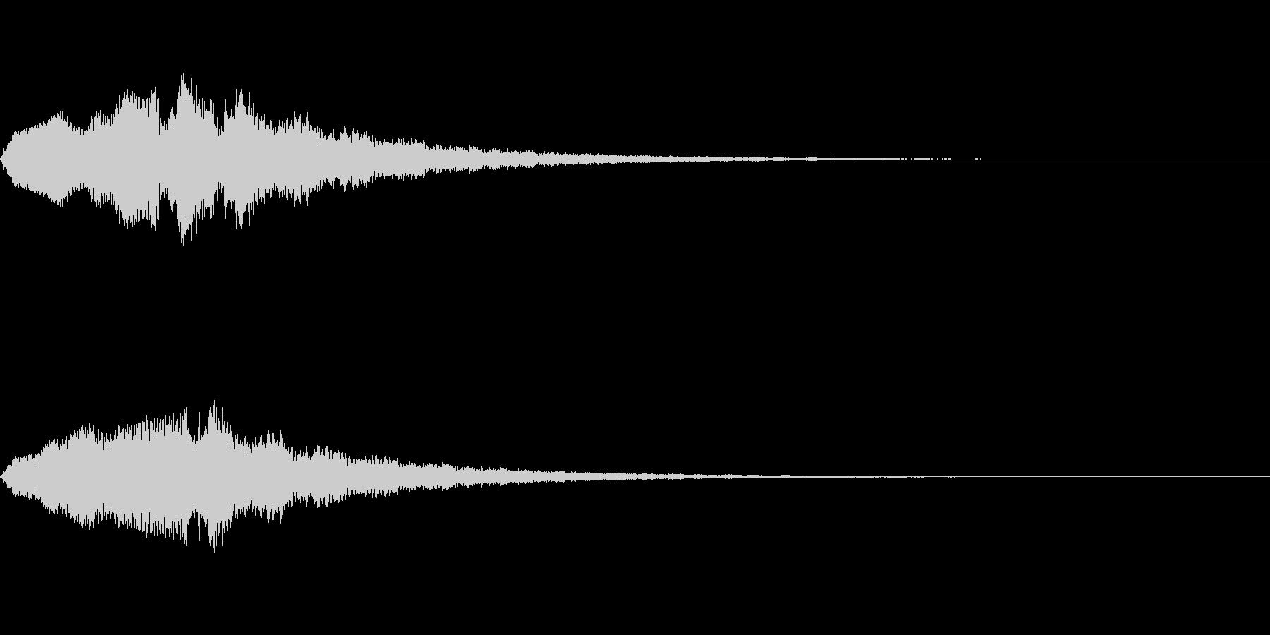 恐怖音09の未再生の波形