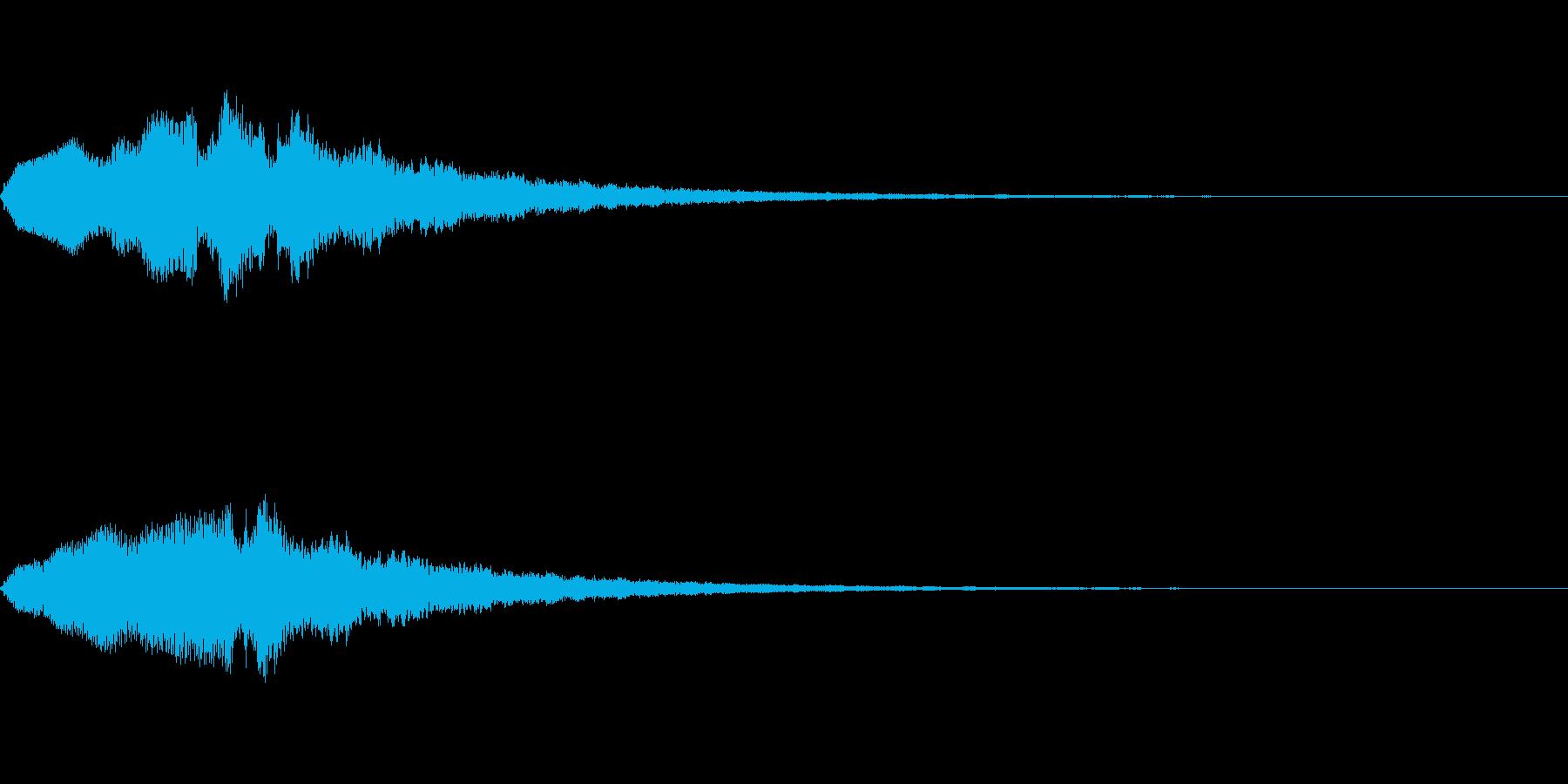 恐怖音09の再生済みの波形