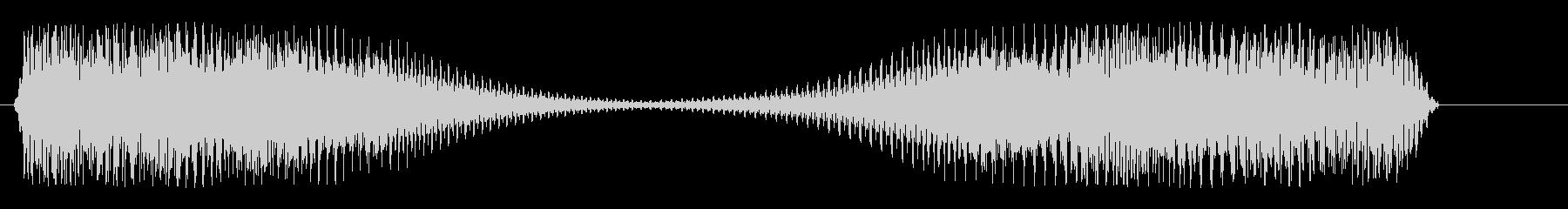 強く響くロボットの音の未再生の波形