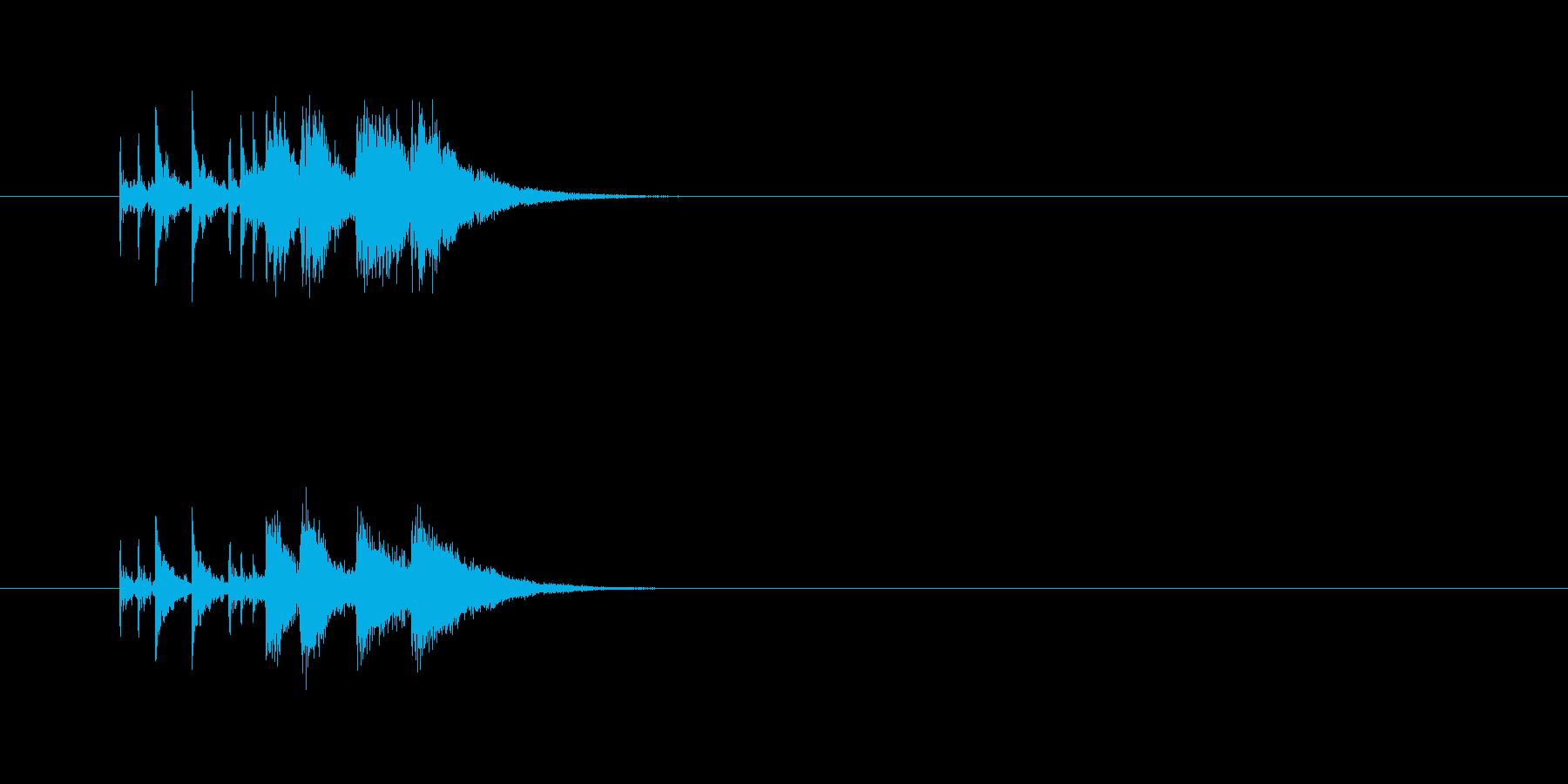 パワフル ドラム 派手 シンセサイザーの再生済みの波形