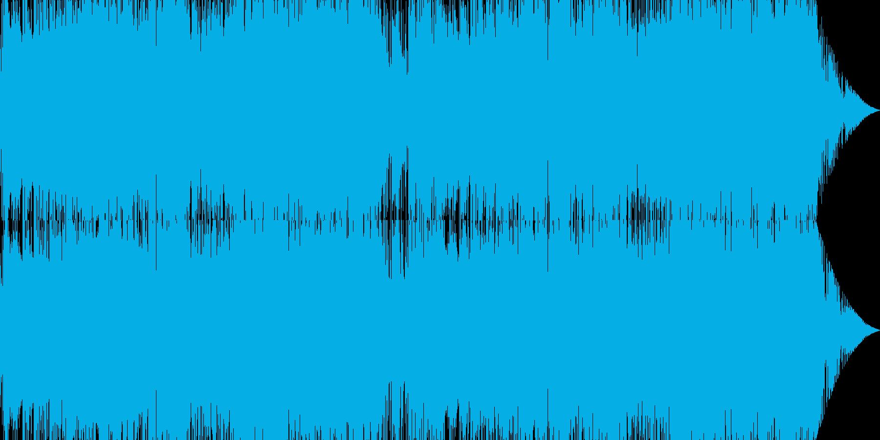 メタルっぽい勇壮な曲の再生済みの波形