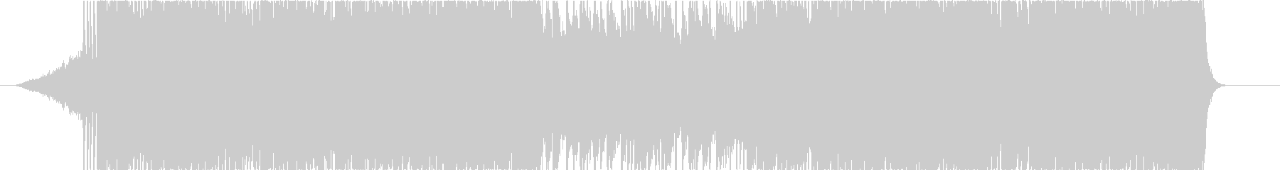 明るめダンス調のバンドBGMの未再生の波形