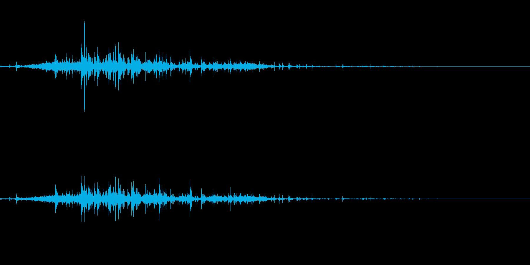 ぞうきんを絞るの再生済みの波形
