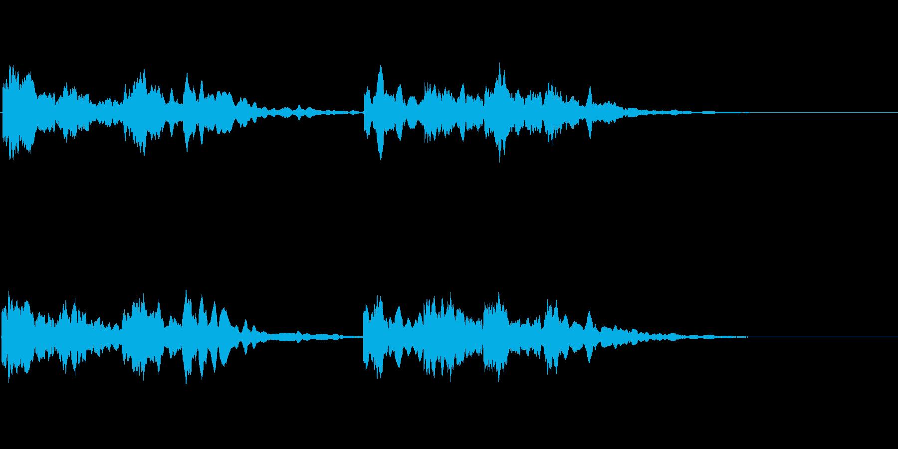 【チャイム】キンコンカンコン 学校,屋外の再生済みの波形
