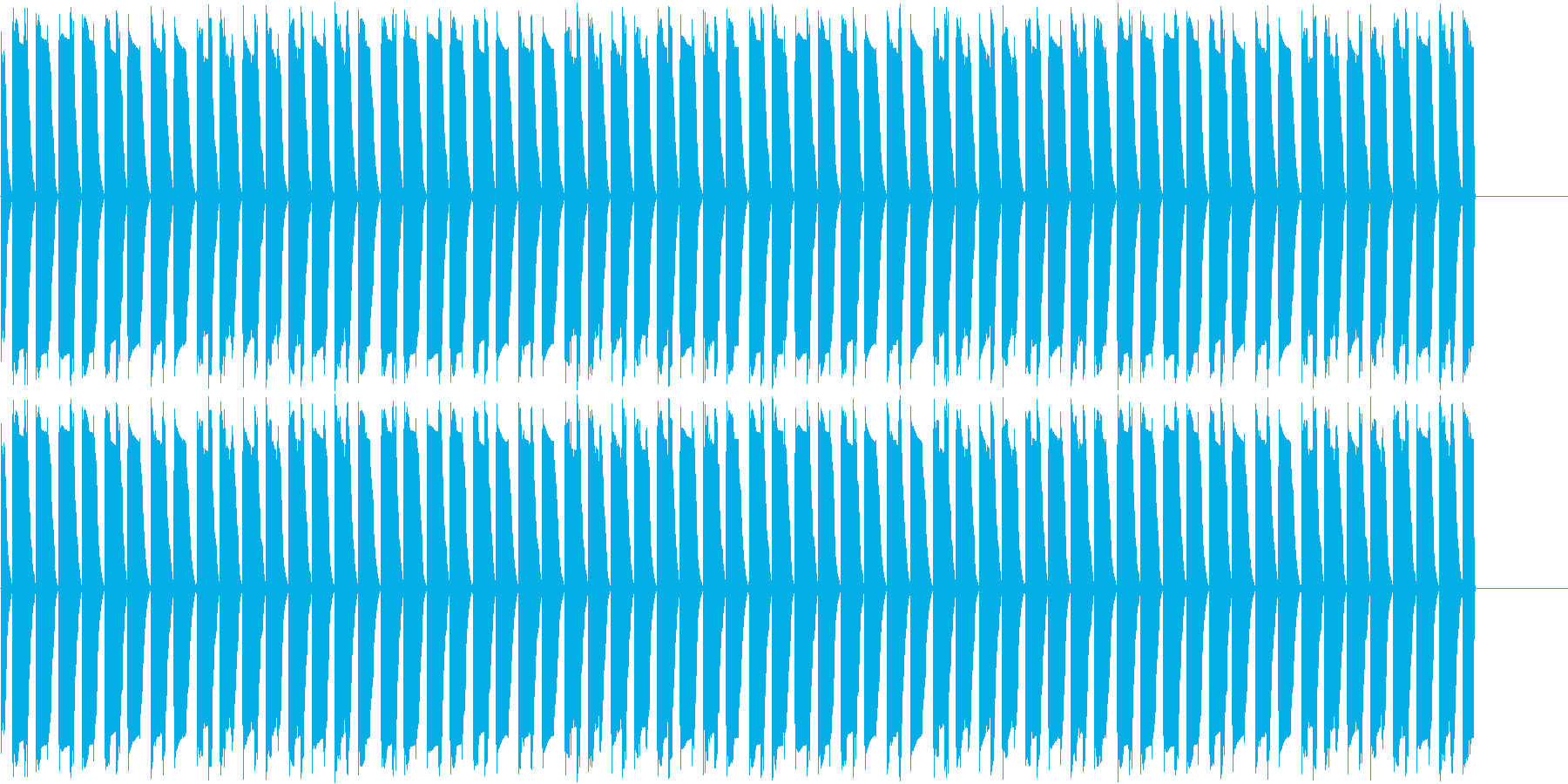 ファミコンっぽいループ、紹介・宣伝動画用の再生済みの波形