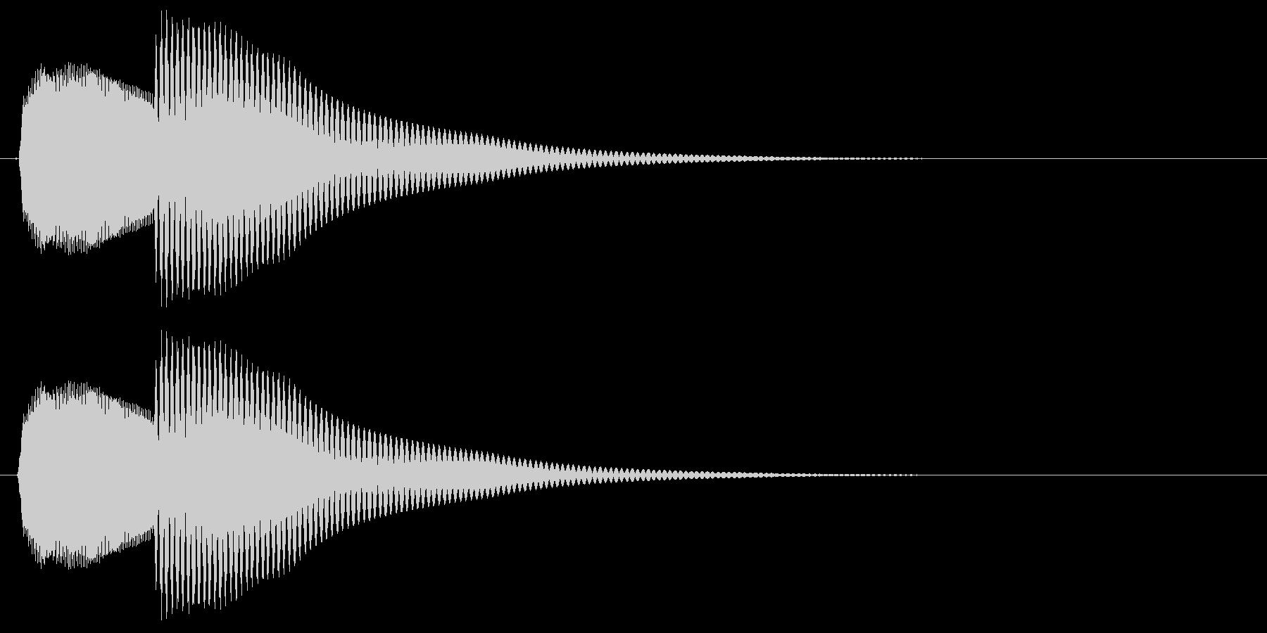 ポカン、とコミカルで明るい音の未再生の波形