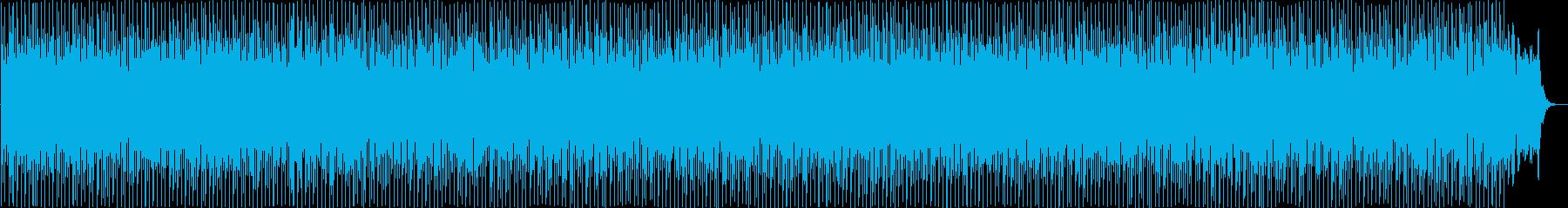 鐘の音の弾むようなポップス曲の再生済みの波形