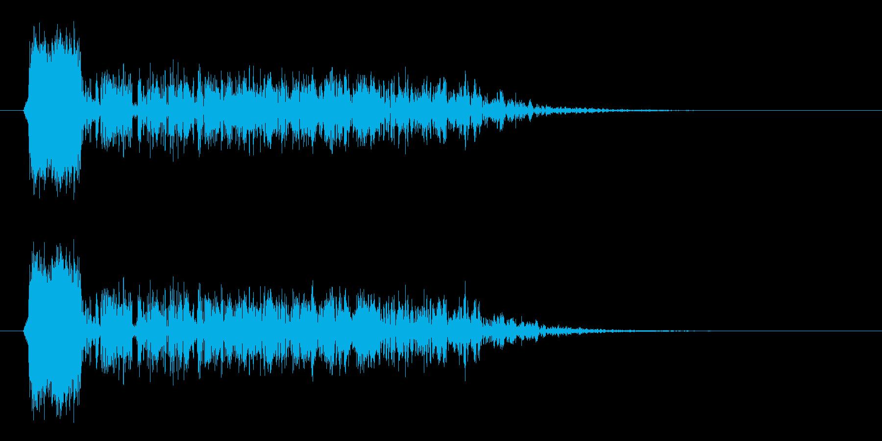 ジャー、ヒューン(何かが変化する衝撃音)の再生済みの波形