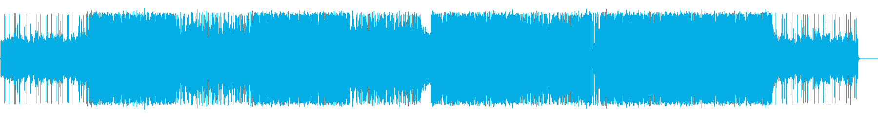 ダンサブルなロックチューン!の再生済みの波形