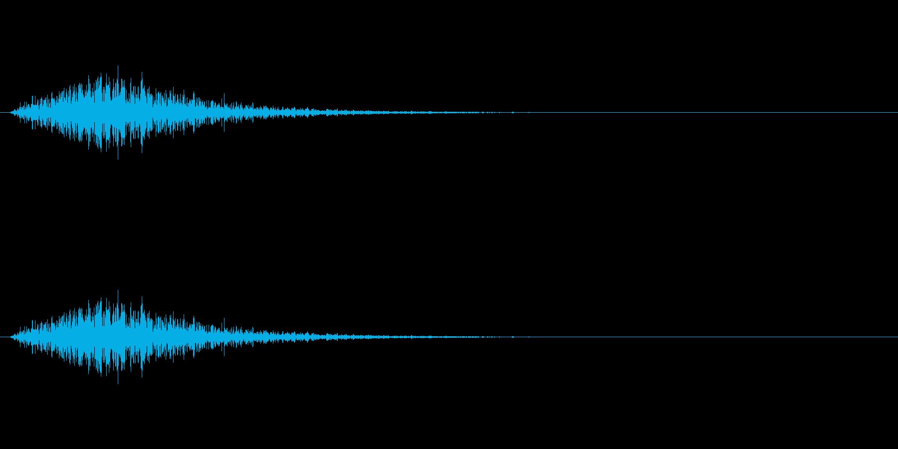 ハリウッド風のタイトル音の再生済みの波形