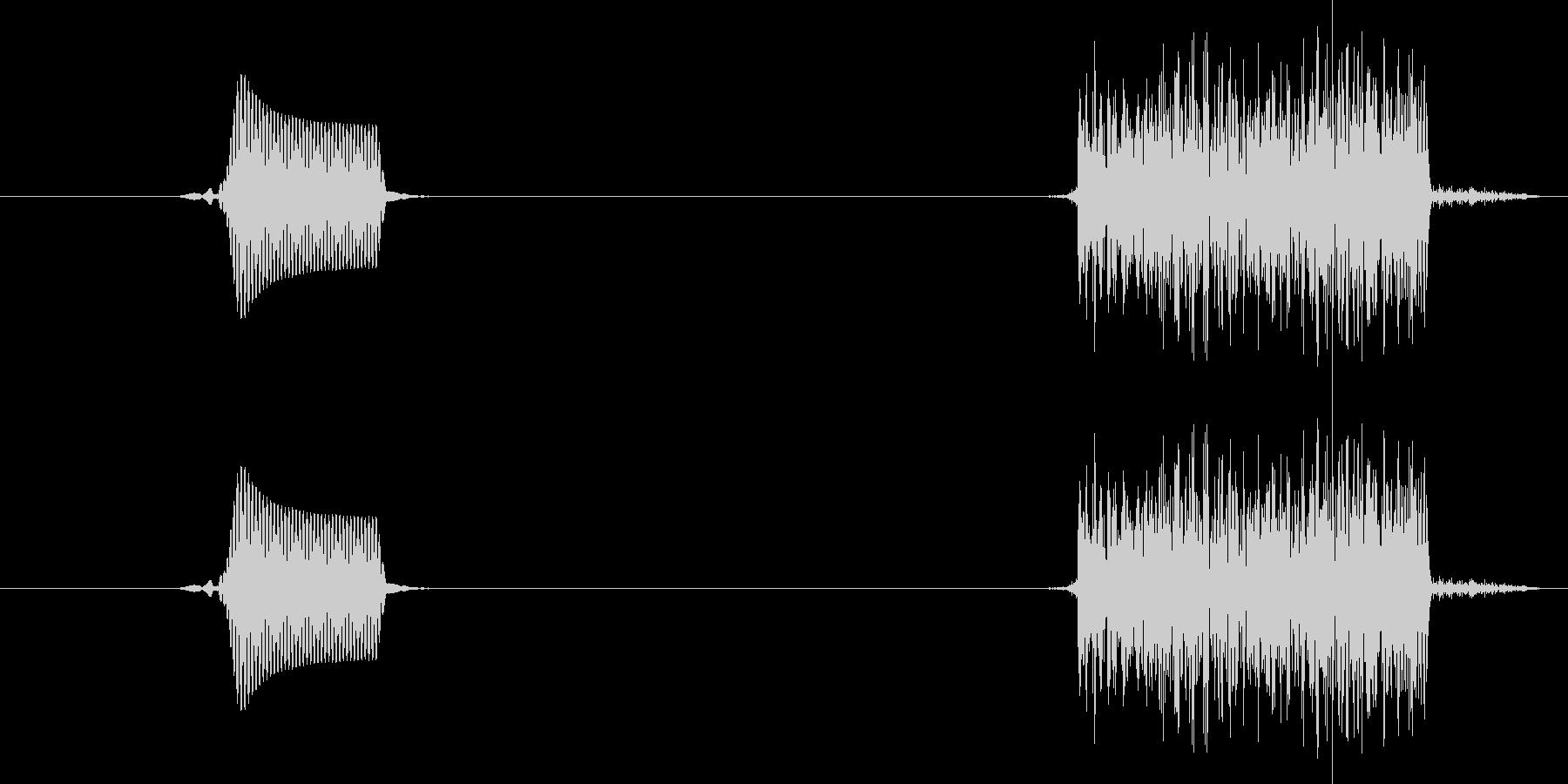 ぽちっ(ボタンスイッチを押す音)の未再生の波形