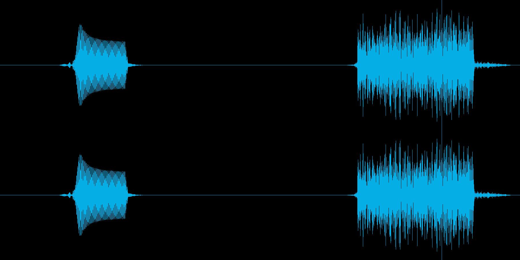 ぽちっ(ボタンスイッチを押す音)の再生済みの波形
