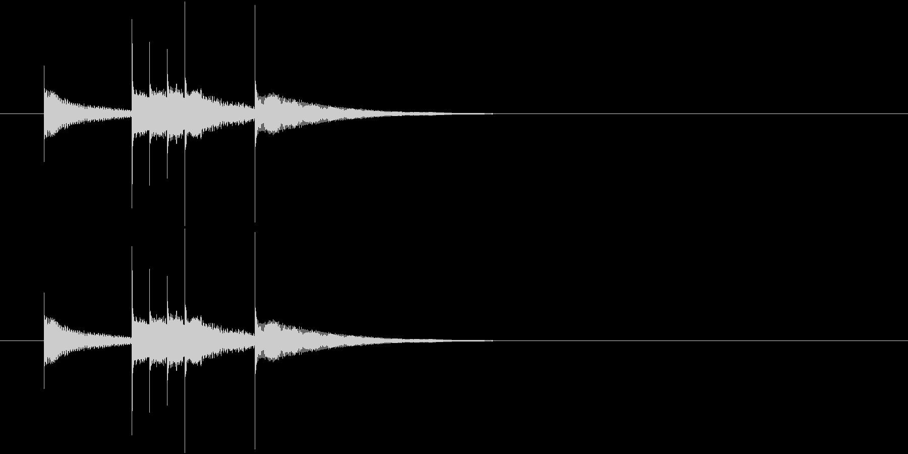 かわいいベル音のワンフレーズの未再生の波形