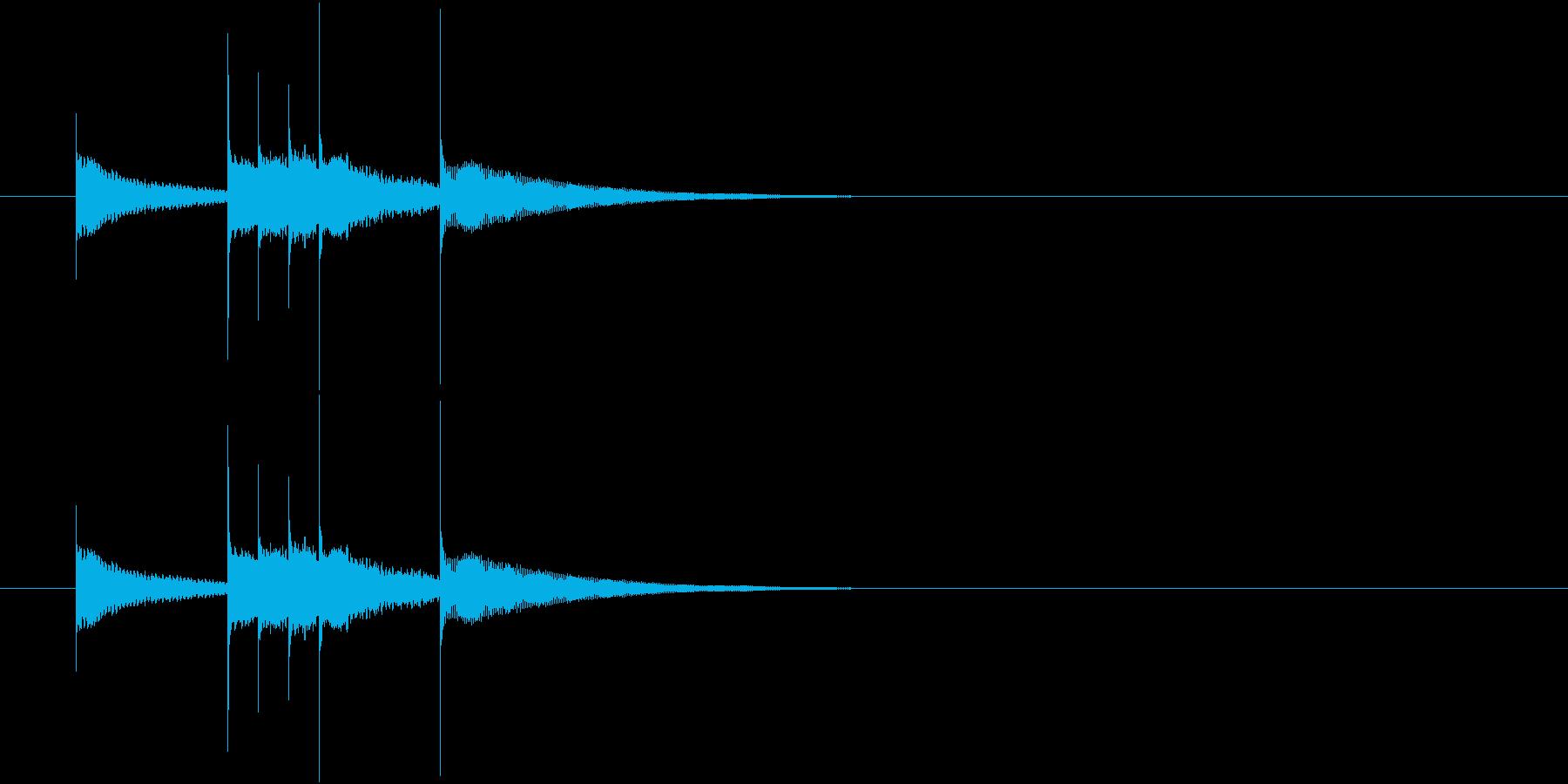 かわいいベル音のワンフレーズの再生済みの波形