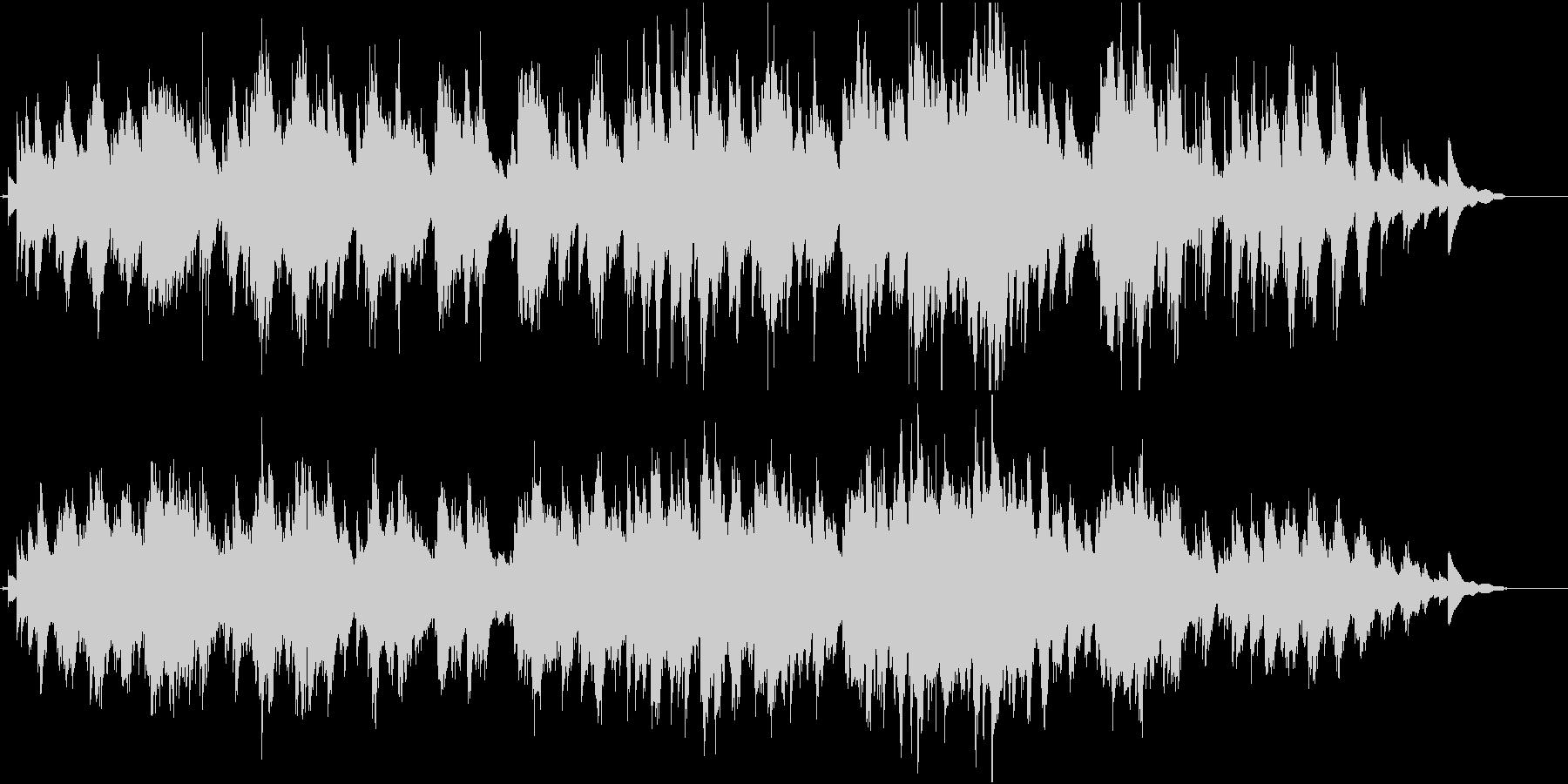 廃墟をイメージしたピアノ曲の未再生の波形