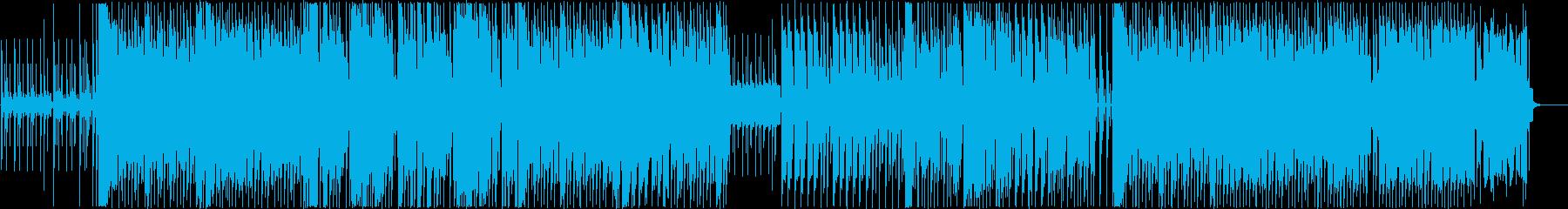 テクノ風。ピコピコなど遊び満載の再生済みの波形