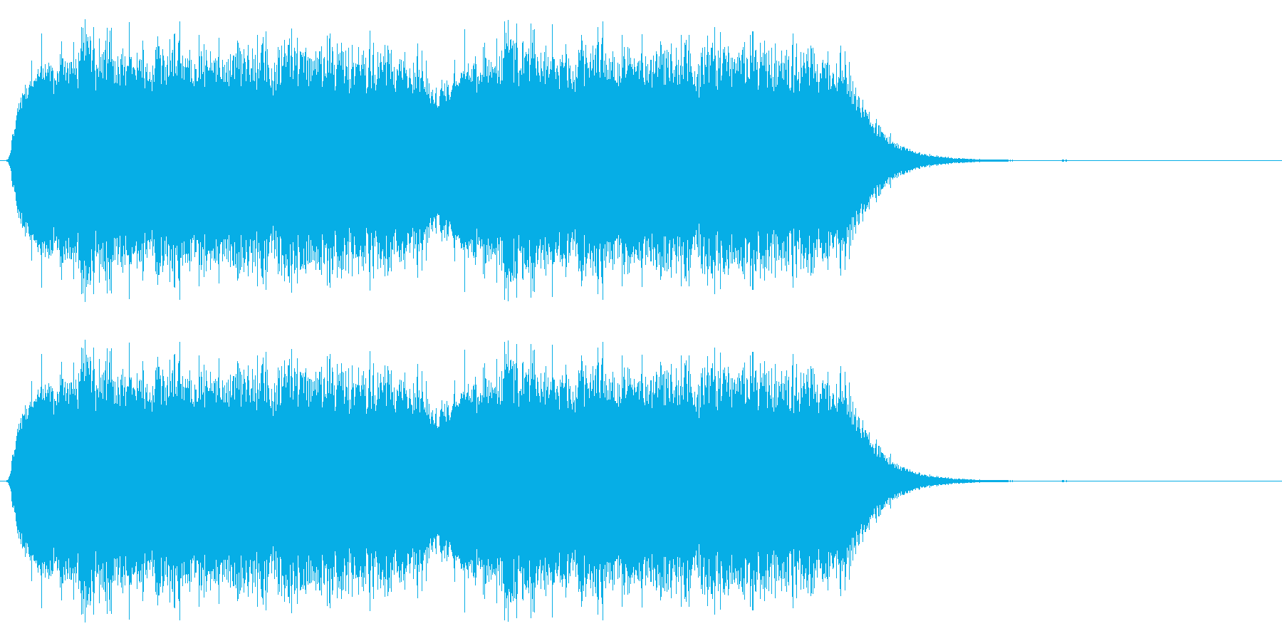 ゲームで使われそうな炎の音(ボワー)の再生済みの波形