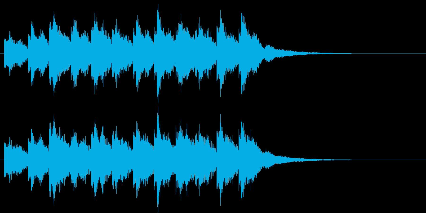 鐘(教会の鐘、時計の鐘)の再生済みの波形