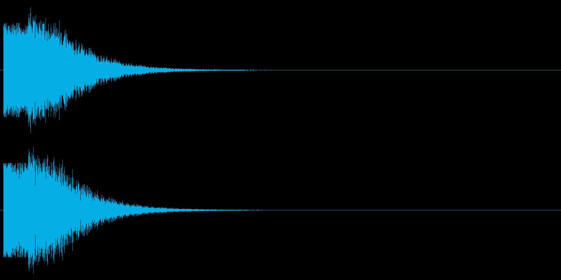 殺気インパクトの再生済みの波形
