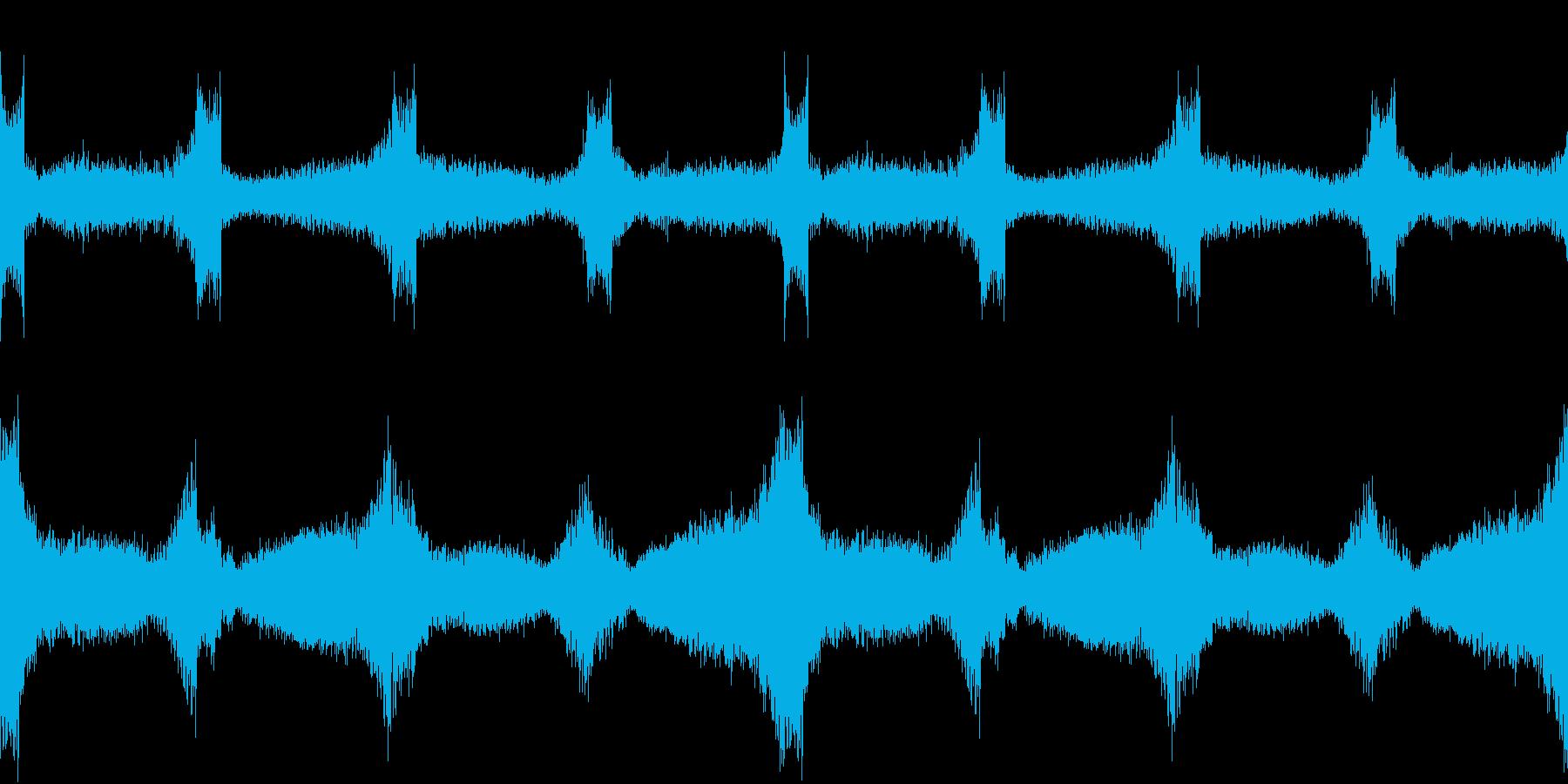 風が大気を揺らすような環境音LOOPの再生済みの波形