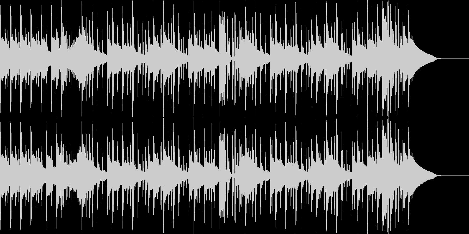 パワフルなヒップホップの未再生の波形