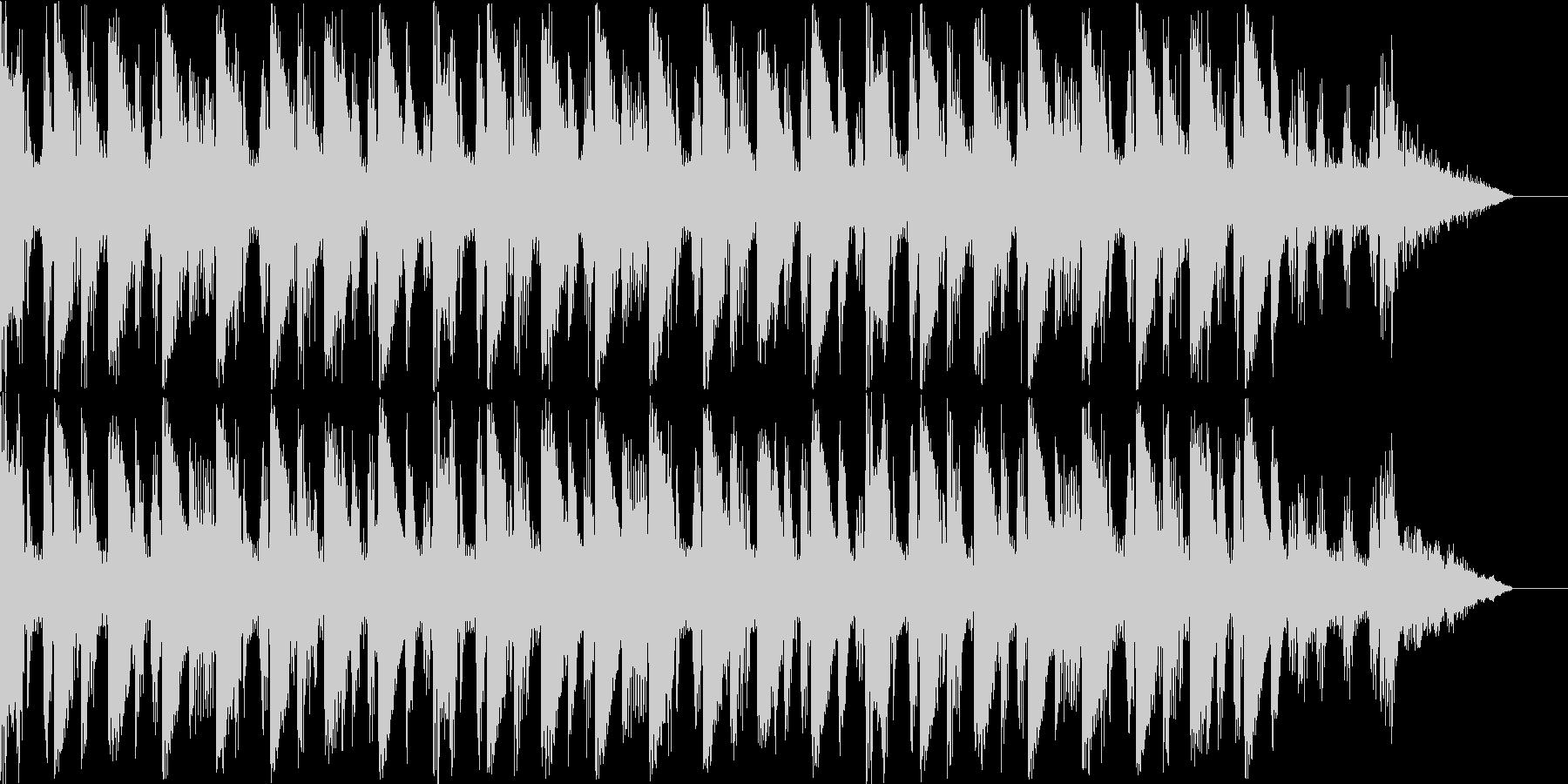 これから始まるイントロBGMの未再生の波形
