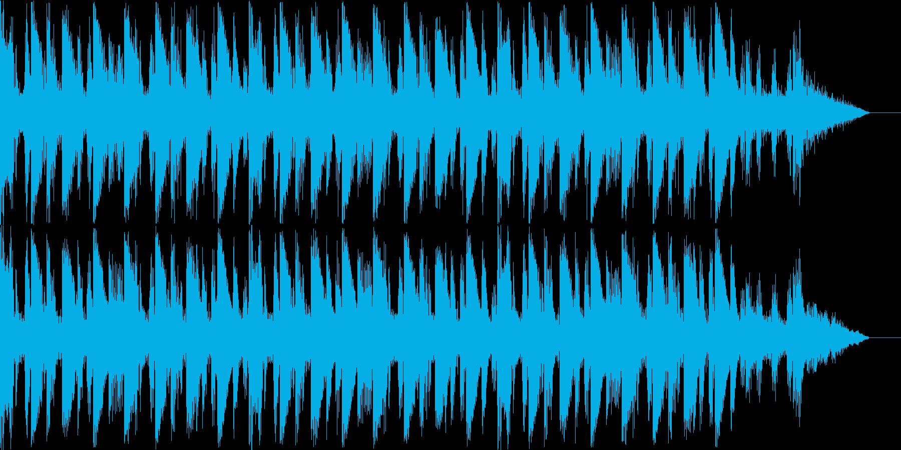 これから始まるイントロBGMの再生済みの波形