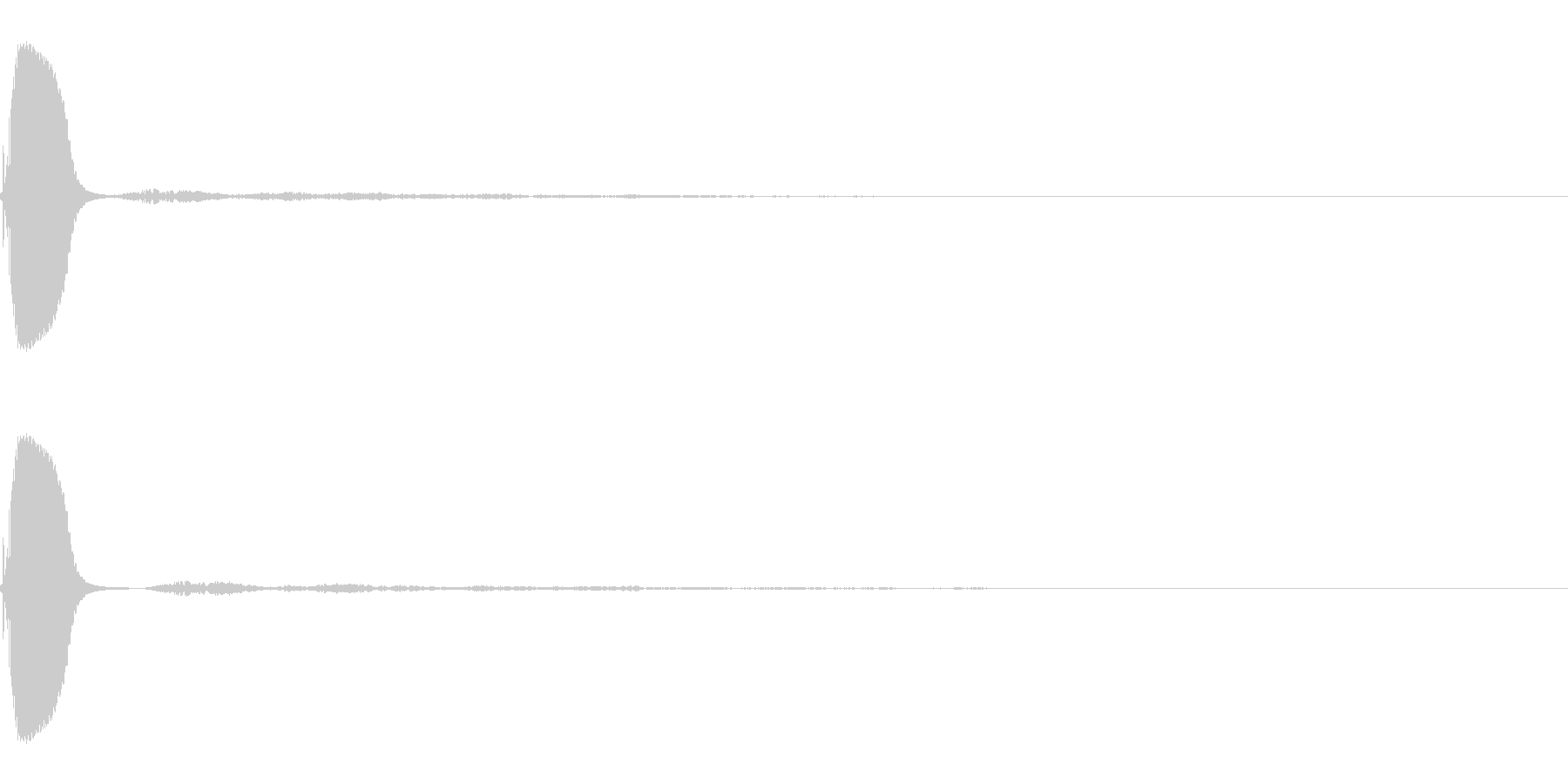 ポップ選択の未再生の波形