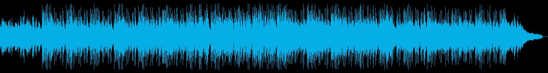 宇宙空間・波のようなピアノ曲の再生済みの波形
